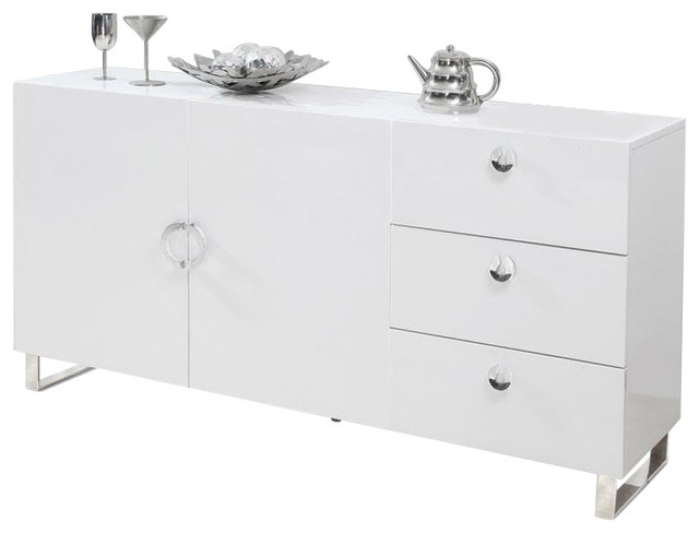 Amelia High Gloss Sideboard, White - Contemporary - Buffets And Sideboards - by Furniture Import ...