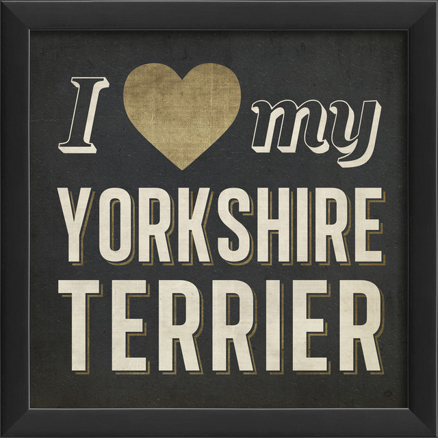 Kitchen art a place for everything mid century inspired kitchen - I Heart My Yorkshire Terrier Print Contemporary Prints