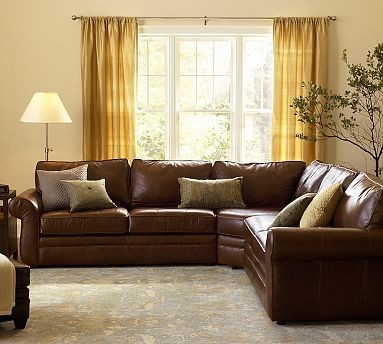 pottery barn pearce leather sectional 1