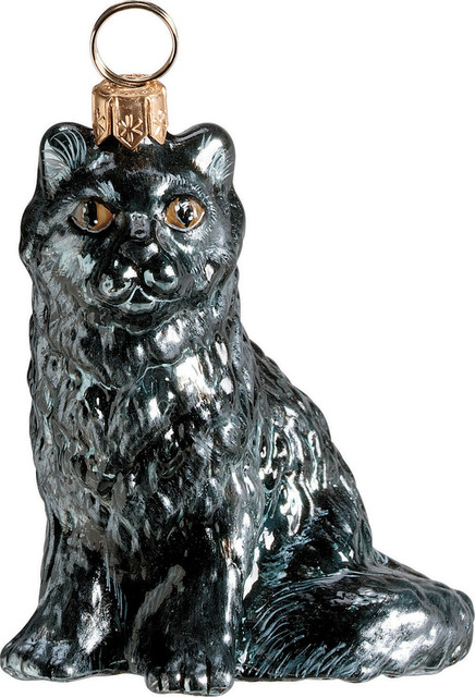 Super Maine Coon Black Ornament Traditional Christmas Ornaments By Easy Diy Christmas Decorations Tissureus