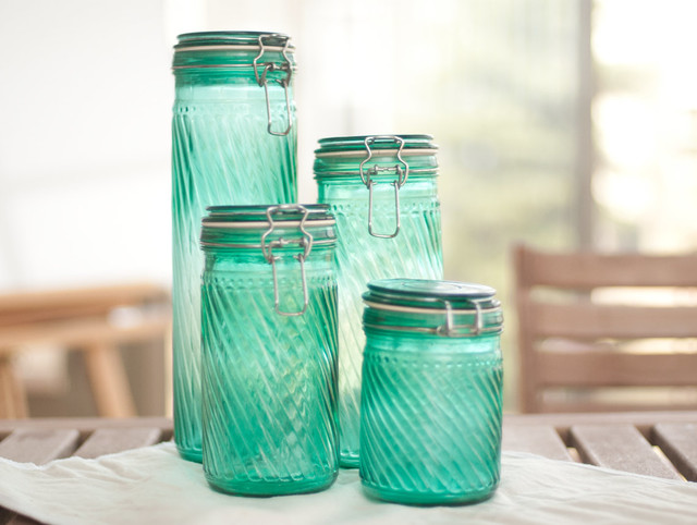teal canisters by sun porch studio set of 4 teal kitchen canisters foter