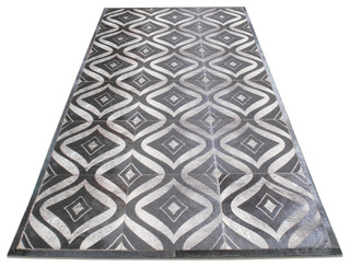 Twine lasercut cowhide patchwork rug modern rugs los for Modern rugs los angeles