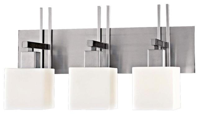 George Kovacs Torii Matte Nickel 24 Wide Bathroom Light Contemporary Bathroom Wall Lights