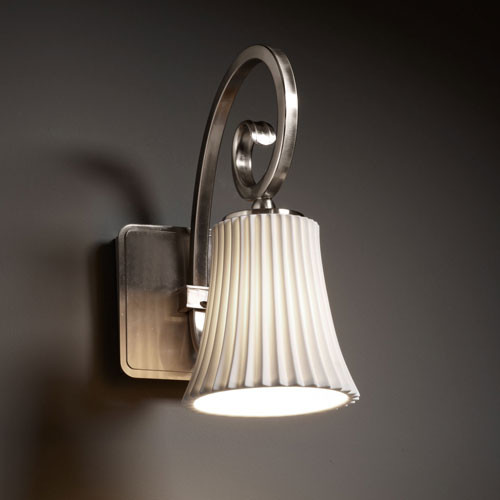 Limoges Victoria Brushed Nickel Wall Sconce Modern Bathroom Vanity Lighting By Bellacor