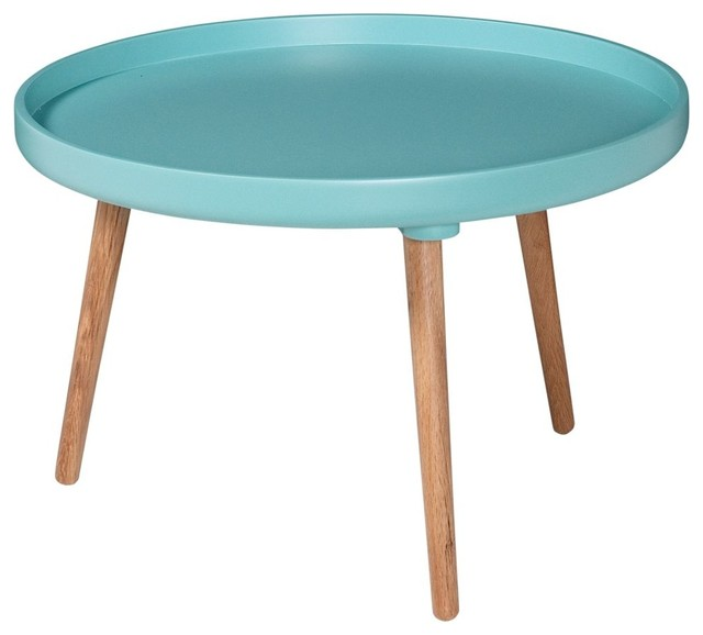 Table basse ronde kompass 55 basse couleur turquoise - Table basse ronde industrielle ...