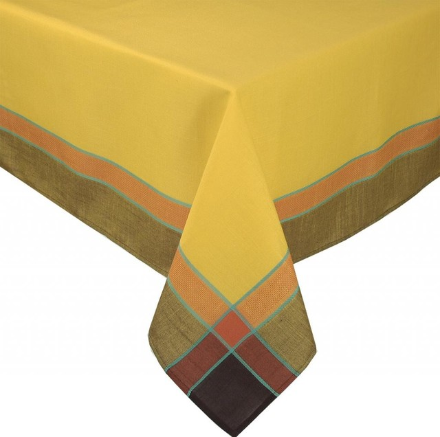 riviera table linens 60 inch by 104 inch tablecloth gold