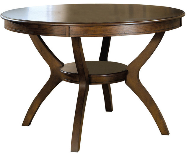 Veneer Dining Table Dark Walnut 48 X48 Traditional Dining Ta