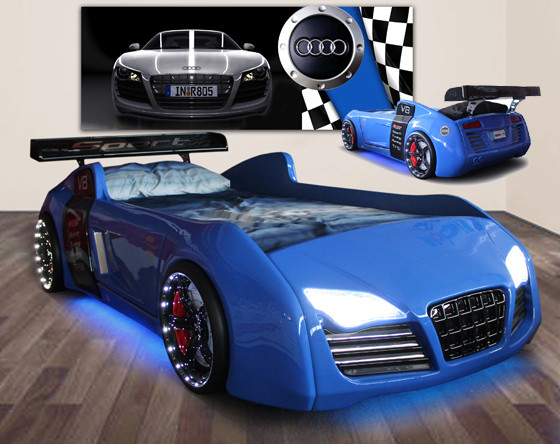 Hanging beds from ceiling - Audi Race Car Bed Blue Bedroom Products