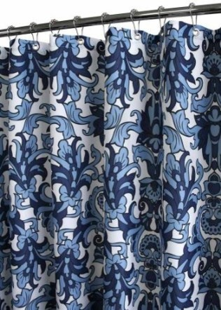 Park B Smith Rococo Scroll Watershed Shower Curtain