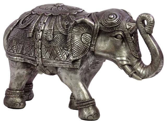 Resin Indian Elephant Figurine, Small  Asian Decorative