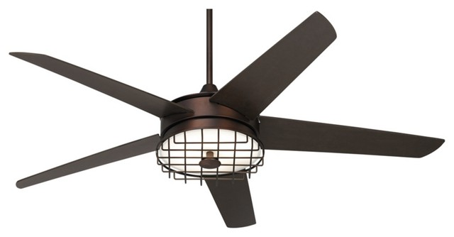 60 possini euro edge ii oil rubbed bronze ceiling fan industriel ventilateur de plafond. Black Bedroom Furniture Sets. Home Design Ideas