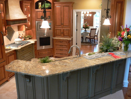 Golden beach granite countertop kitchen design ideas for Golden beach design