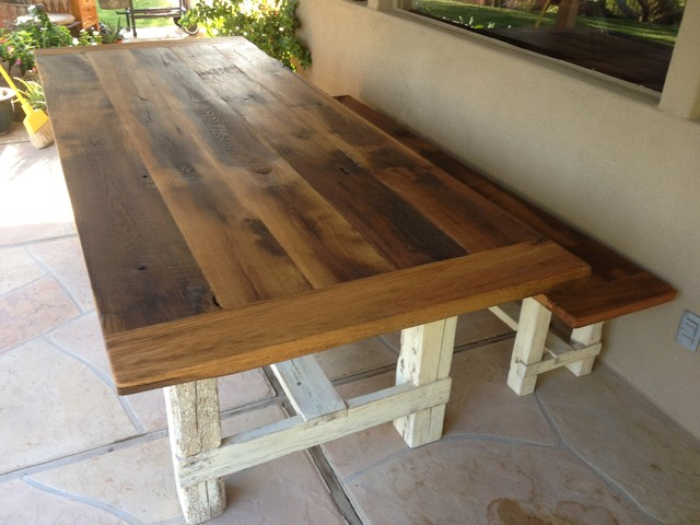Reclaimed Oak Farmhouse Table Bench Farmhouse Dining Tables