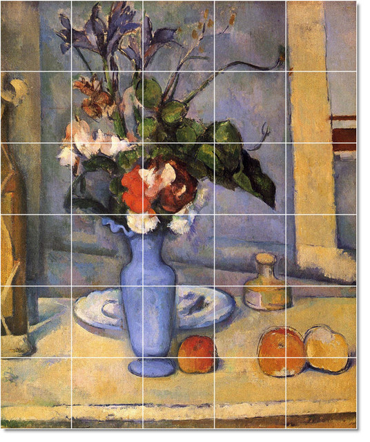Paul cezanne flowers painting ceramic tile mural 248 for Ceramic mural art