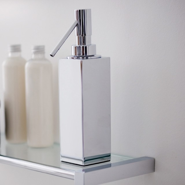 Ws Bath Collections Metric Soap Dispenser In Polished Chrome Contemporary