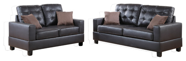 imola loveseat and sofa upholstered in espresso faux