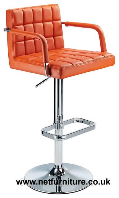 Kaybon Retro Orange Kitchen Breakfast Bar Stool Height