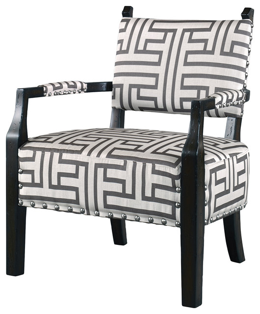 uttermost terica geometric accent chair 23217