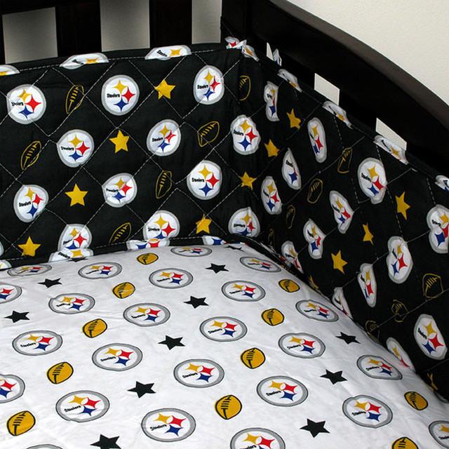 NFL Pittsburgh Steelers Crib Bumper Football Baby Bedding ...