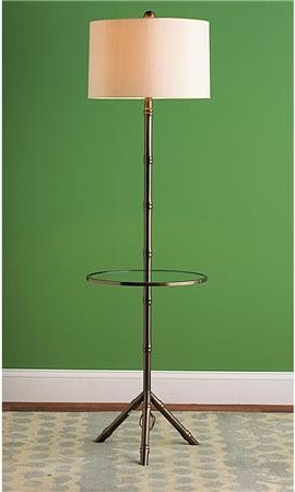 Bamboo Tray Table Floor Lamp Eclectic Floor Lamps By