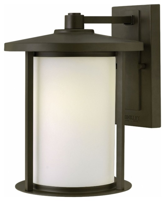 Transitional Outdoor Wall Lights : Hinkley Lighting Hudson Transitional Outdoor Wall Sconce, Medium - Transitional - Outdoor ...