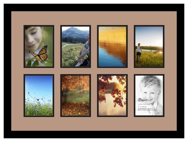 Arttoframes collage photo frame with 8 5x7 openings for Modern collage frame