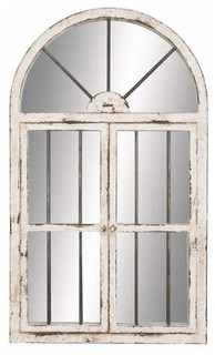 Tinsley Arched Window Wall Mirror, 42