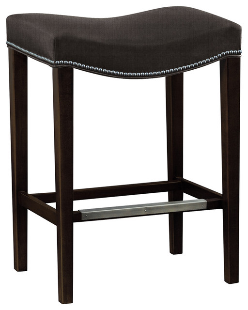 Madigan Backless Stool In Dark Walnut Amp Brown
