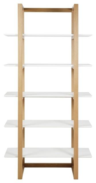 osaka tag re 5 tablettes laqu blanc et ch ne asiatique tag re et vitrine par alin a. Black Bedroom Furniture Sets. Home Design Ideas