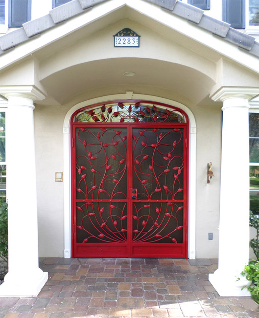 Crescente security french doors with topper - Traditional french doors exterior ...