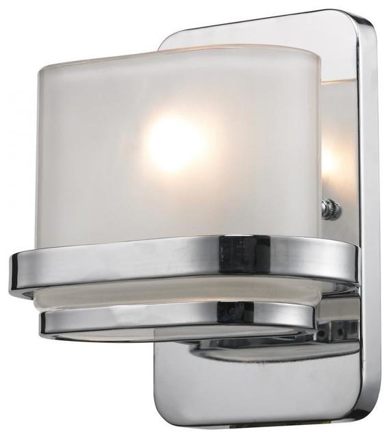 Contemporary Chrome Vanity Lights : One Light Polished Chrome Bathroom Sconce - Contemporary - Bathroom Vanity Lighting - by We Got ...