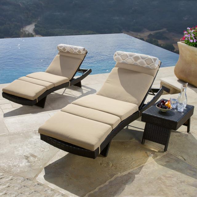 Portofino™ fort 3pc Chaise Set in Espresso