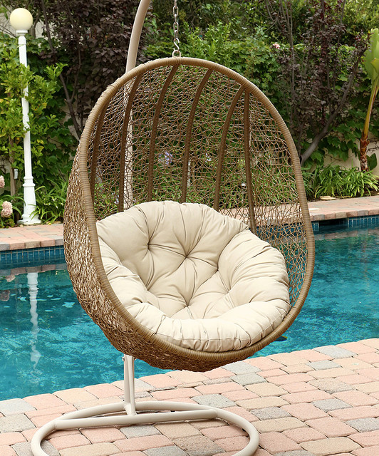 Lamport Swinging Egg Outdoor Chair Modern Hanging Chairs