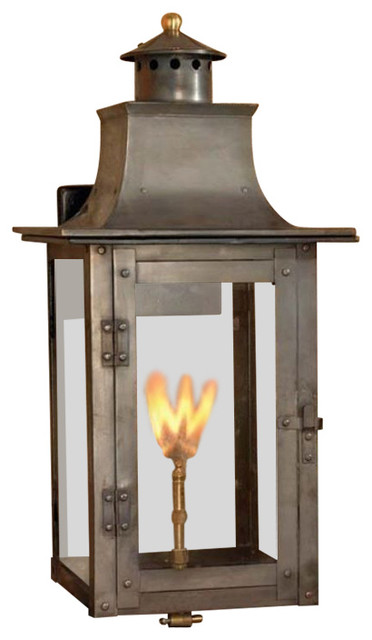 Elk Lighting 7916 Wp Maryville Gas Ceiling Lantern With Aged Copper Traditional Outdoor Wall