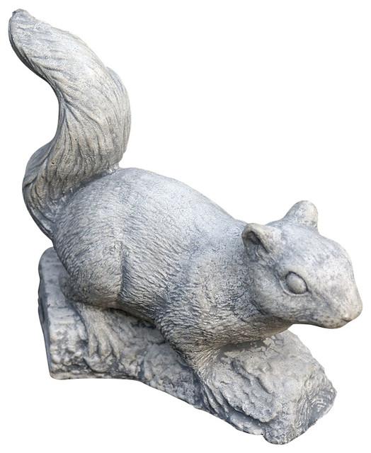 Small Squirrel, Campania Cast Stone Animal Statue Garden ...
