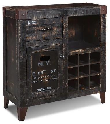 Reclaimed Wood Graffiti Wine Cabinet Rustic Wine And