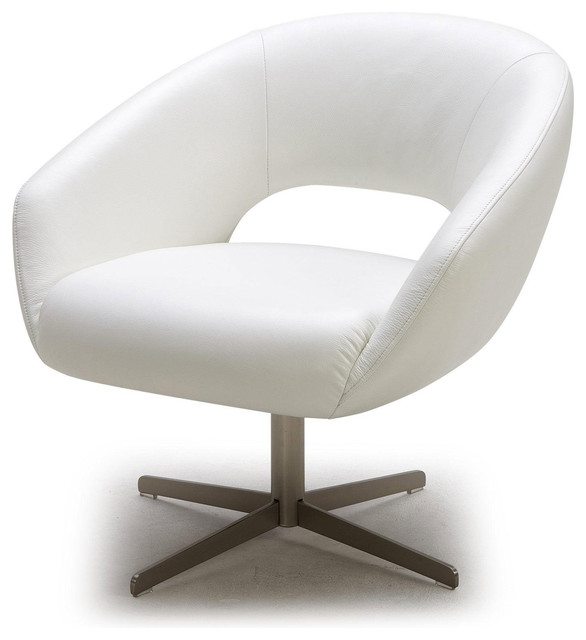 MODERN WHITE LEATHER LOUNGE CHAIR ASTRA Modern Armchairs Accent Cha