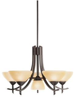 Kichler Olympia Olde Bronze Chandelier 5 Light W 1 Light Center Contemporar