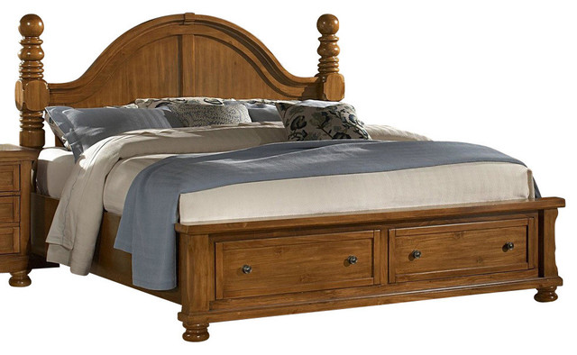 Vaughanbassett Reflections Storage Cannonball Poster Bed