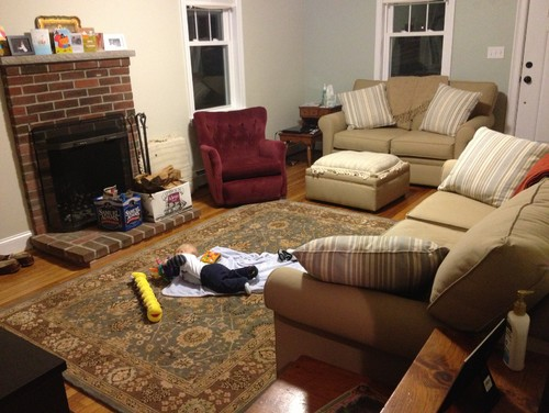 Help with awkward living room furniture arrangement rug Help arranging furniture