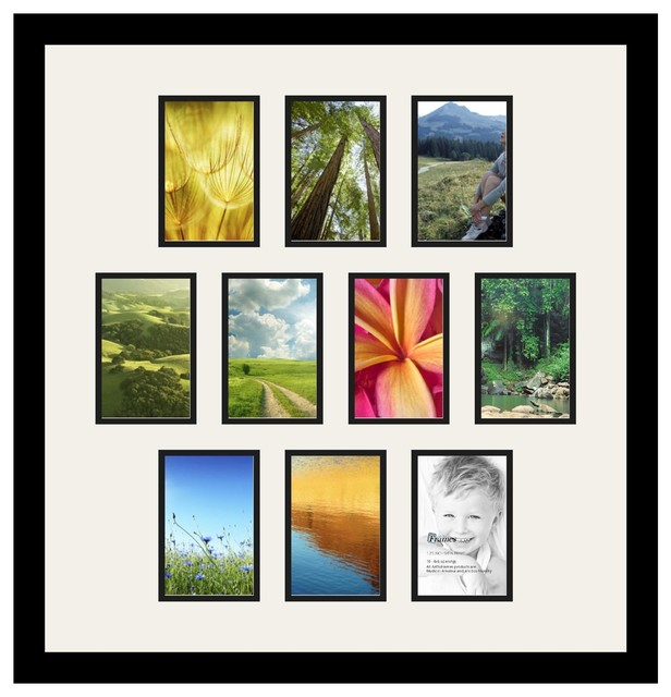 Arttoframes collage photo frame with 10 4x6 openings and for Modern collage frame