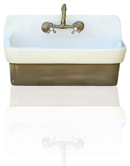 ... Sink Original Finish Apron Utility Sink, Brown farmhouse-kitchen-sinks