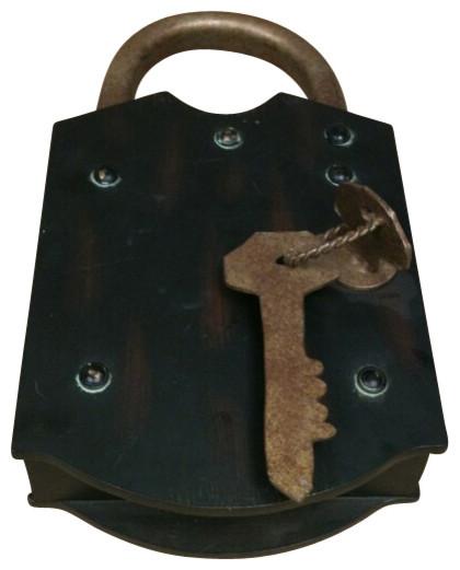 Wood lock shaped key box - Contemporary - Decorative Pillows - by AMB ...