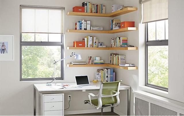 Float Wood Wall Shelves Office By Ru0026ampB Modernodespacho