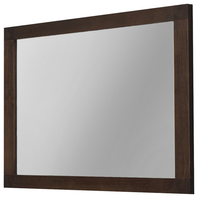 40 nordico wall framed mirror solid wood walnut for Wood framed mirrors