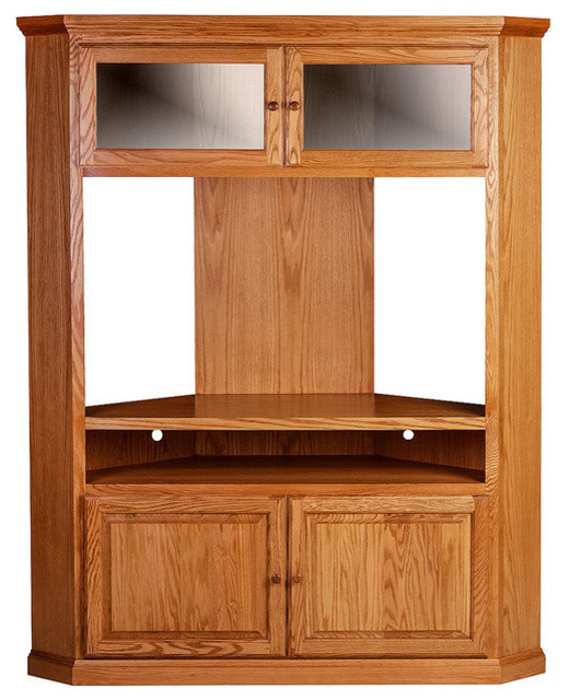 Forest Designs Traditional Large Corner Tv Unit Natural