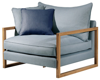 Conran Fielding Armchair Savona Blue Contemporary