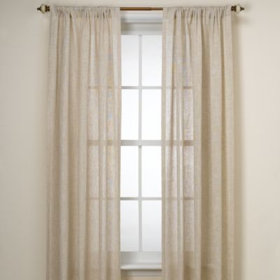 B Smith Barbados Natural Window Panel Contemporary Curtains By Bed Bath Beyond