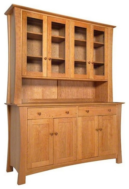 Andrews natural cherry buffet hutch craftsman