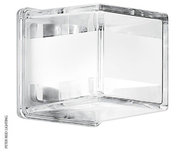 Glass Cube Wall Lights : FROSTED CRYSTAL GLASS CUBE WALL LIGHTS - Contemporary - Wall Lights - by Peter Reid Lighting